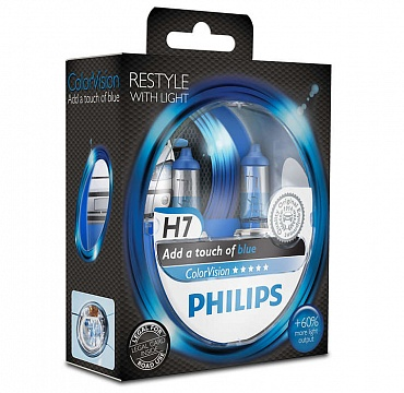 Philips ColorVision H7 голубой свет 12972CVPGS2 - 1